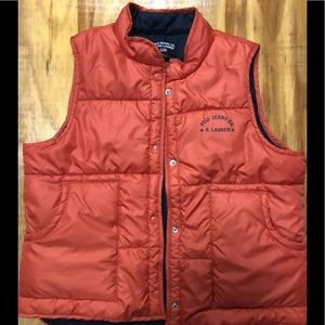 Polo Jeans Company puffer shell vest size large